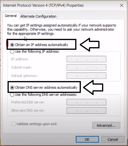 enable dhcp on windows